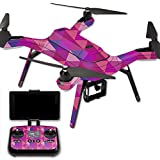 MightySkins Protective Vinyl Skin Decal for 3DR Solo Drone Quadcopter wrap cover sticker skins Pink Kaleidoscope