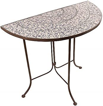 Bistrotisch Gartentisch Tisch Mosaik Keramik Eisen B Ware
