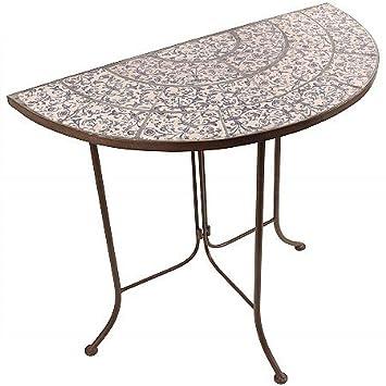 Bistrotisch Gartentisch Tisch Mosaik Keramik Eisen B Ware Haarrisse