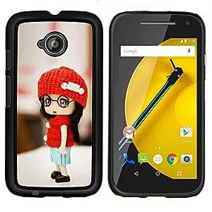 """For Motorola Moto E2 / E 2nd gen , S-type madera grafito metálico lápiz"""" - Arte & diseño plástico duro Fundas Cover Cubre Hard Case Cover"""