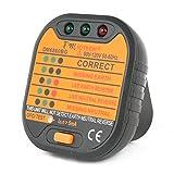 DMiotech Receptacle Tester Circuit Breaker Finder with GFCI Test Wall Plug AC Voltage Detector 90-120V DM6860BG