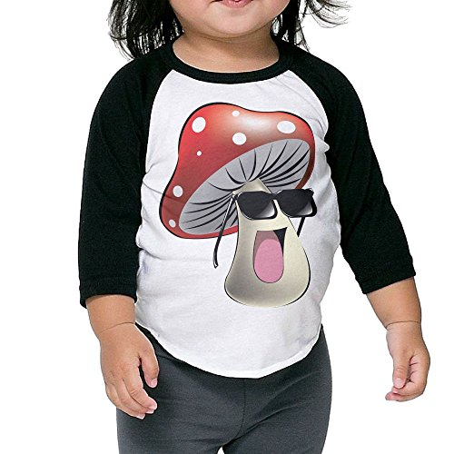 North West Baby Halloween Costume (Cool Mushroom Kid's Sleeve Raglan Clothes Unisex 3 Toddler Design)