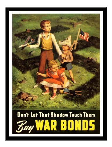 1942 Framed - Iposters Don't Let That Shadow Touch Them Usa War Print 1942 Magnetic Memo Board Black Framed - 41 X 31 Cms (approx 16 X 12 Inches)