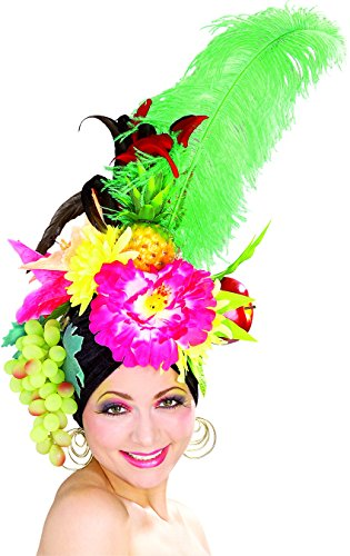 Rubie's Costume Co Women's Deluxe Tropicalia Costume Fruit Hat, Multi, One (Carmen Miranda Fancy Dress Costume)