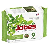 Jobe's Tree Fertilizer Spikes, 15-3-3 Time Release Fertilizer for All Shrubs & Trees, 9 Spikes per Package