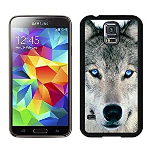 Fashion Samsung Galaxy S5 Case Wolf Coolest Animal Designs Durable Soft Rubber Silicone Black Phone Cover Protector