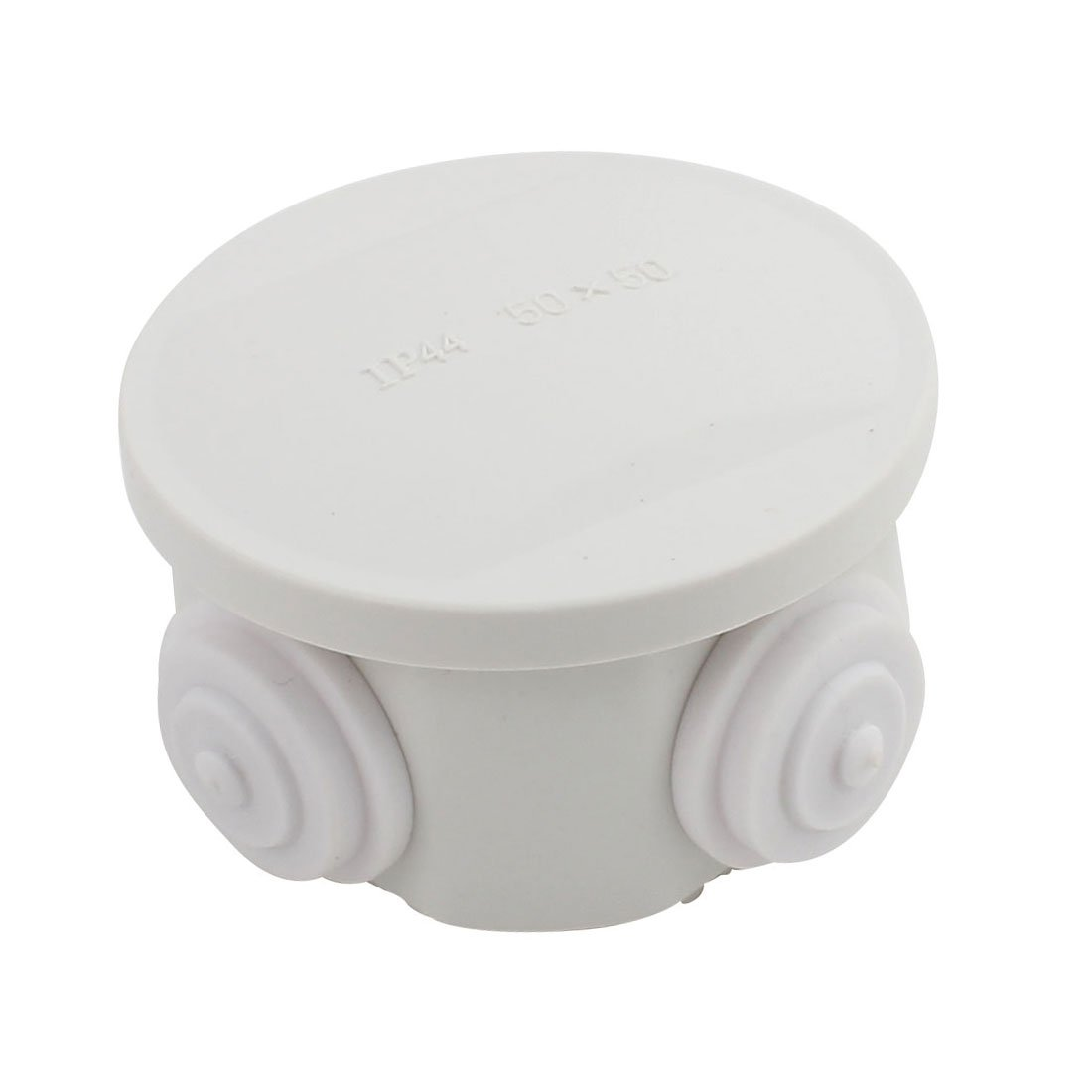 Awclub ABS Plastic Dustproof Waterproof IP65 Junction Box Universal Electrical Project Enclosure White D1.96