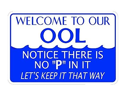 4baed2a3bf4f Amazon.com   WELCOME TO OUR OOL. NOTICE THERE S NO