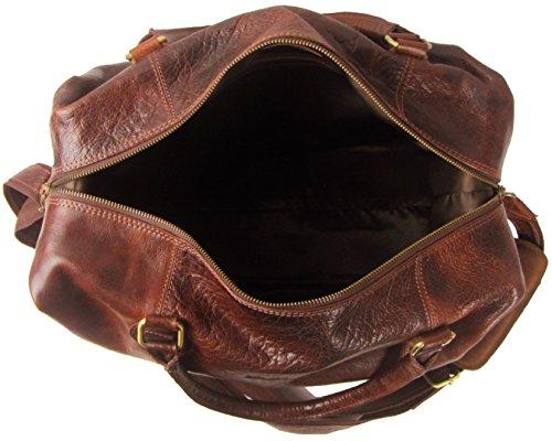 Weekender Reisetasche Handgepäck Sporttasche Reisegepäck Schultertasche Umhängetasche aus Leder für Damen und Herren - stadthimmel Hamburg
