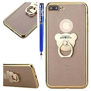 Carcasa Apple iPhone 8 Plus, Funda iPhone 7 Plus Glitter, EUWLY iPhone 7 Plus/iPhone 8 Plus Carcasa Silicona Ultrafina Soft Glitter Paillette Bling ...