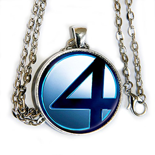 Fantastic Woman Four Costume Invisible (Fantastic 4 logo pendant necklace - Fant4stic -)