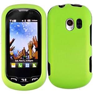 Neon Green Hard Case Cover for LG Extravert VN271