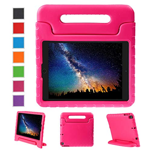 NEWSTYLE Apple iPad Air 2 Case Shockproof Case Light Weight Kids Case Super Protection Cover Handle Stand Case for Kids Children for Apple iPad Air 2 (2014 Released) - Rose Color ()