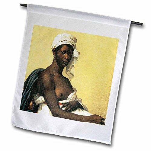 BLN Beautfiul Nudes Fine Art Collection - Portrait of a Negress by Marie-Builleine Benoist - 12 x 18 inch Garden Flag (fl_127962_1)