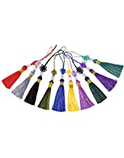 Cotton Hand-Woven Beaded Tassel, Bookmark Pendant, Chinese Knot 10Pcs, Different Color, Can Be Used For DIY Production, Jewelry Decoration