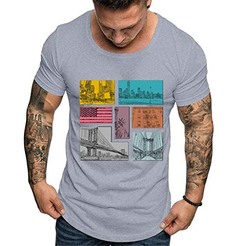MILIMIEYIK American Flag - Made of USA - Mens Premium T-Shirt, Olive Heather ()