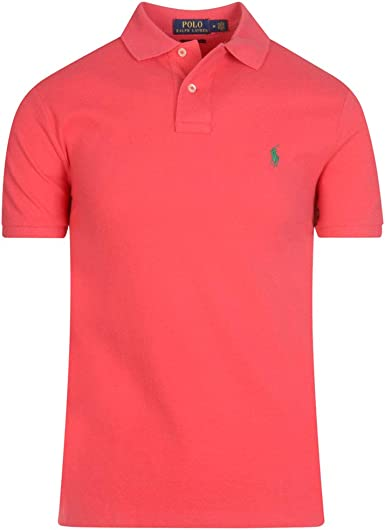 Polo Polo Ralph Lauren Custom Slim Rosa Hombre XL Rosa: Amazon.es ...