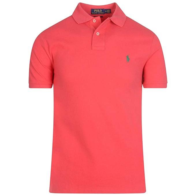 Polo Polo Ralph Lauren Custom Slim Rosa Hombre: Amazon.es: Ropa y ...