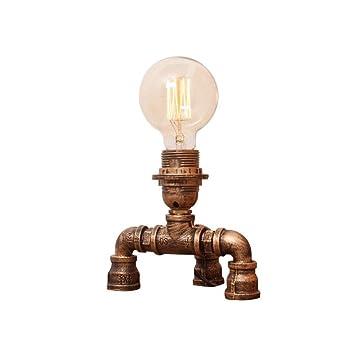 LifeX Lámparas de mesa antiguas de bronce, lámpara de mesa ...