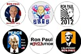 Set of 6 RON PAUL for PRESIDENT 2012 Pinback Buttons Republican