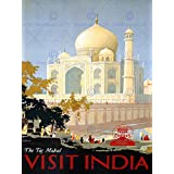 TRAVEL CANADIAN PACIFIC TAJ MAHAL INDIA CANADA VINTAGE ADVERTISING POSTER 2341PY