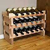 Creekside 18 Bottle Short Scalloped Wine Rack (Redwood) by Creekside - Easily stack multiple units - hardware and assembly free. Hand-sanded to perfection!, Redwood