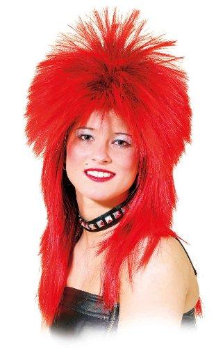 Orlob Damen Perucke Hard Rock Zum Rocker Kostum Karneval Fasching