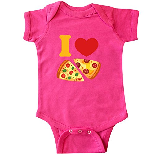 inktastic I Love Pizza Infant Creeper 6 Months Hot Pink