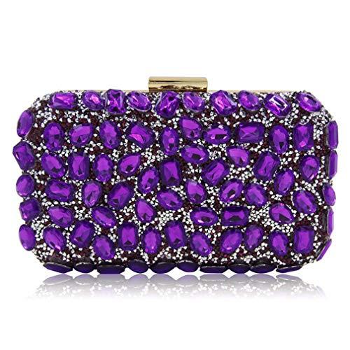 Clutch Evening Party Gold Green Blue Clutches Ladies Bags Bag Clutch Purses Women Purple ULKpiaoliang Wedding 1ZITww