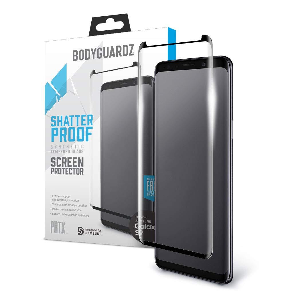 BodyGuardz - PRTX Samsung Galaxy S9 Shatterproof Synthetic Glass Screen Protector