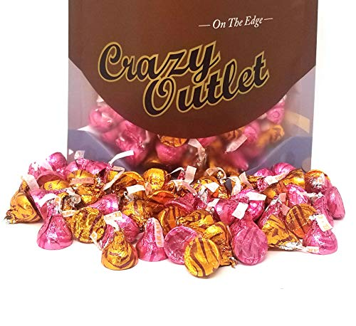 (CrazyOutlet Pack - Hershey's Kisses Milk Chocolate Filled Caramel, Mother's Day Candy Bulk Assortment, 2 lbs)