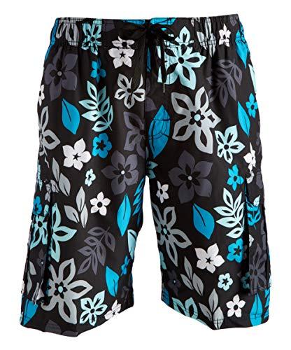 Kanu Surf Men's Miles Swim Trunks (Regular & Extended Sizes), Revival Black, - And Swim Trunks Surf
