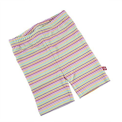 Zutano Striped Bike Shorts – Rainbow Candy – Size 2T – For Toddlers 33-36 Inches Long and 30-33 Pounds