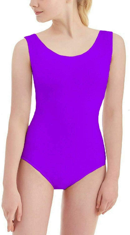 Papaval Girls Kids Sleeveless Leotard Children Athletic-Dresses Sports School Dance Ballet Gymnastics Top