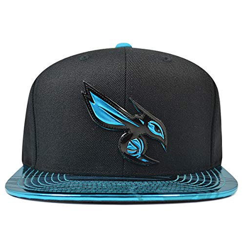 Mitchell & Ness Charlotte Hornets TEAM STANDARD Snapback NBA Adjustable Hat - Black, Teal
