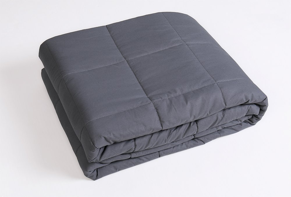 Weighted Blanket by RelaxBlanket for Adults , Fall Asleep Faster and Sleep Better, Great for Anxiety, Autism, OCD, and Sensory Processing Disorder(60''x80'',25 lbs)