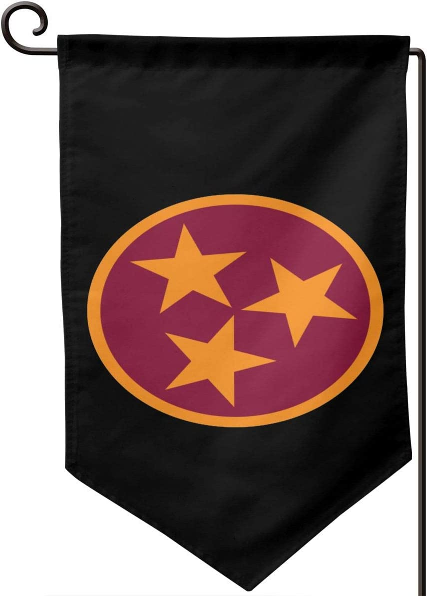SL6NNG Tennessee Tri Star Flag 3 Garden Flag 12.5x18in Family Decorative Outside Yard Decoration Flag