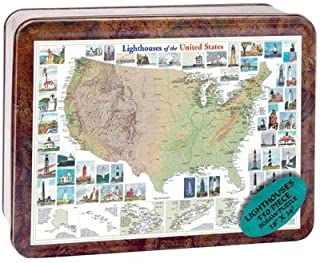 product image for Puzzle Tin Lighthouse Jigsaw Puzzle 550pc