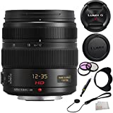 Panasonic H-HS12035 LUMIX G X VARIO 12-35mm F2.8 ASPH X Series Lens (White Box) + 3 Piece Filter Kit (UV-CPL-FLD) + Lens Cap Keeper + Lens Cleaning Pen + Microfiber Cleaning Cloth
