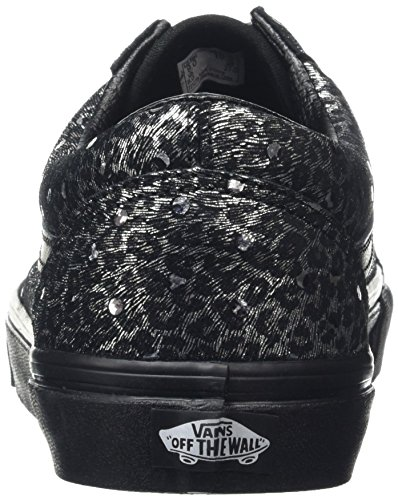 Vans Unisex Old Skool Classic Skate Shoes Metallic Leopard Black free shipping many kinds of LZ78j5T7g