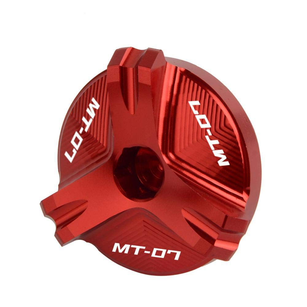 for Yamaha FZ07 MT07 MT 07 Tracer 2019-2019 2019 2019 2019 Hign Quality Aluminum Oil Filler Cap Plug Cover with MT-07 Logo Gold