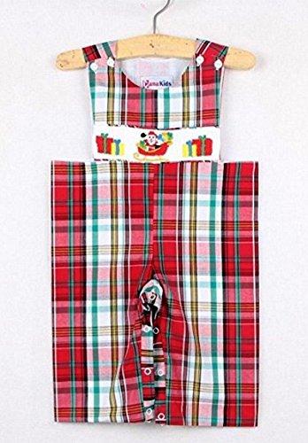 Dana Kids Christmas Holiday Santa Claus Gifts Smocked Plaid Longall Baby Boys (12 Months)
