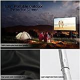 "Pyle 100"" Outdoor Portable Matt White Theater TV"