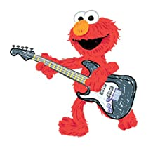 RoomMates RMK1928GM Sesame Street Elmo Rock n Roll Guitar Peel and Stick Giant Wall Decal