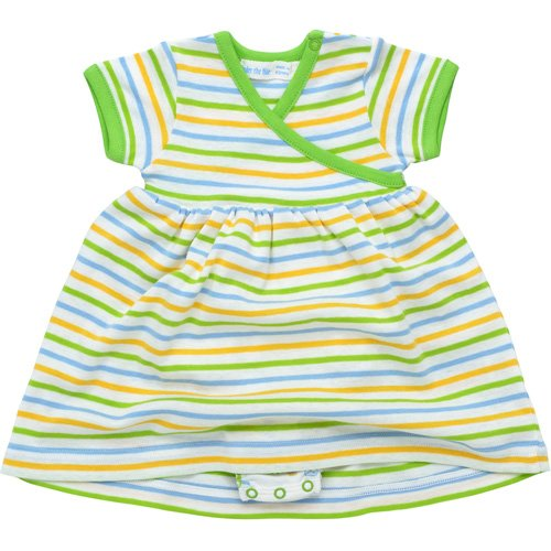 Zen Dress with Bloomer Sherbet Stripe Under the Nile Organic Cotton NB-3M