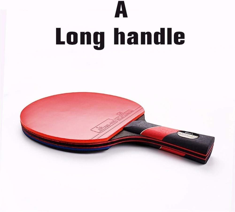 Lijincheng Paleta de Ping Pong Mango de Goma Tabla Raqueta de Tenis de Carbono Cortas Mesa de Ping Pong Raqueta de Mango Largo Ofensivo Tipo