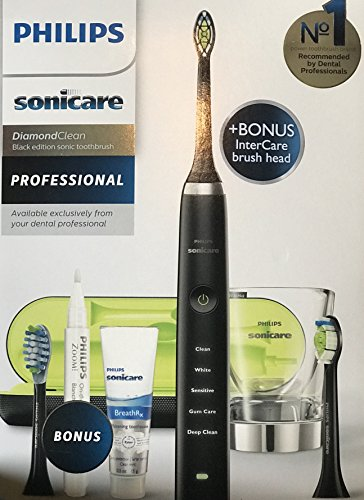 Philips Sonicare HX9382 / 54 DiamondClean Black Dental Professional Model Electric Toothbrush by Philips