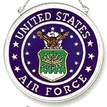 Air Force Suncatcher - Amia Handpainted Glass United States Air Force Suncatcher, 4-1/2-Inch