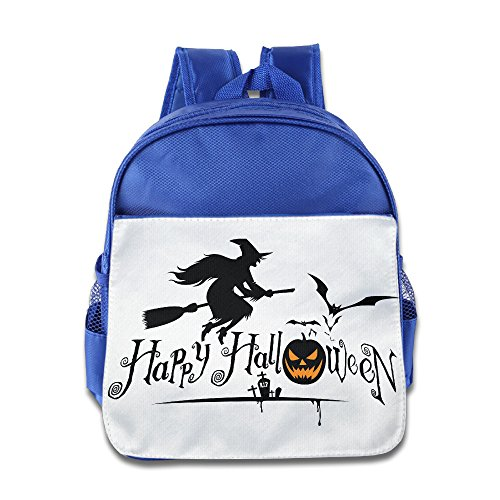 XJBD Custom Cute Halloween Kids School Bagpack For 1-6 Years Old RoyalBlue ()