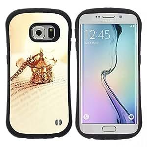 """Pulsar iFace Series Tpu silicona Carcasa Funda Case para Samsung Galaxy S6 EDGE / SM-G925(NOT FOR S6!!!) , Clip collar de oro libro Cartas de lectura"""""""